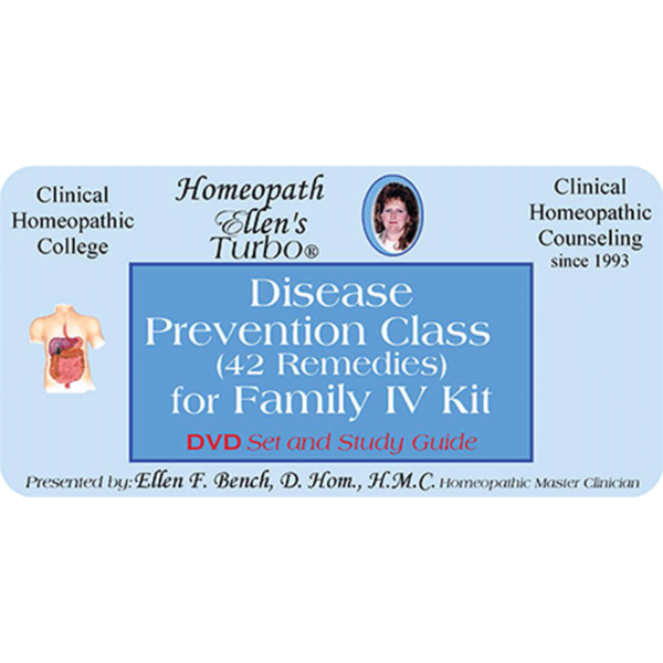 Homeopathic Family 4 Disease Prevention Remedies DVD Audio Class