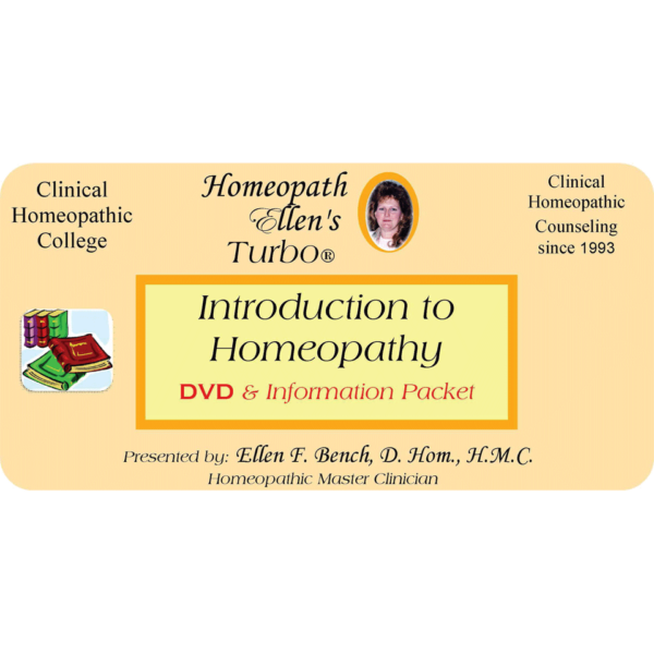 Introduction to Homeopathy DVD Audio Class