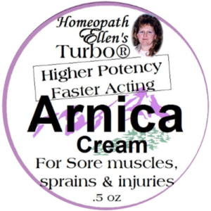 Homeopathic arnica cream.