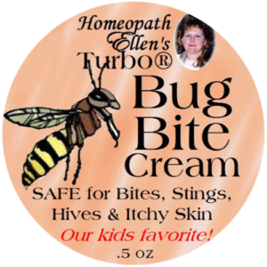 Homeopathic bug bite and sting relief cream