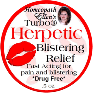 Homeopathic herpetic blister relief cream.
