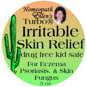 Homeopathic irritable skin relief cream.