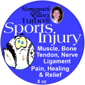 Homeopathic sports injury pain relief cream.
