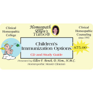 Childrens Immunization Alternatives CD Package Label