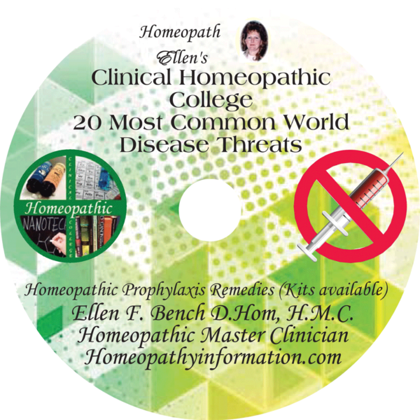 20 Most Common World Disease Threats Homeopathic Audio Class DVD