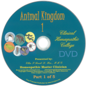 Professional Homeopathic Animal Kingdom Kit DVD Audio Class