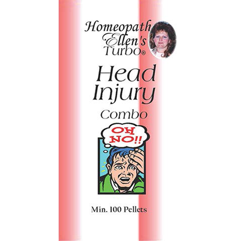 Professional Homeopathic head injury combo pellets.