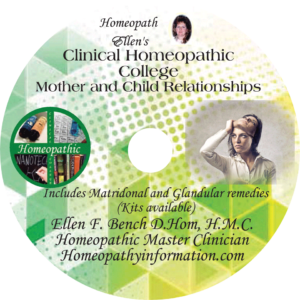 Mother & Child Issues Homeopathic Audio Class CD