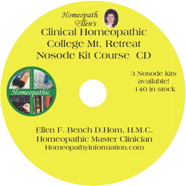 Professional Homeopathic Nosode Kit Course Audio CD