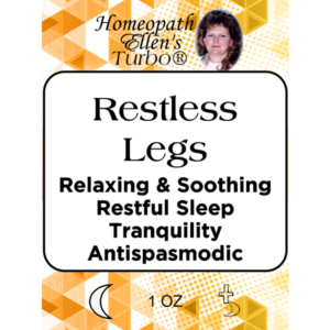 Homeopathic Restless Legs Relief Tonic.