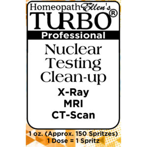 Homeopathic Nuclear Testing Clean-up Combo Spritz Remedy