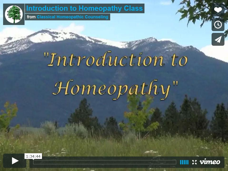 Introduction to Homeopathy Free Video