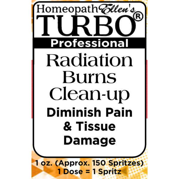 Turbo Radiation Burn Cleanup Homeopathic Spritz